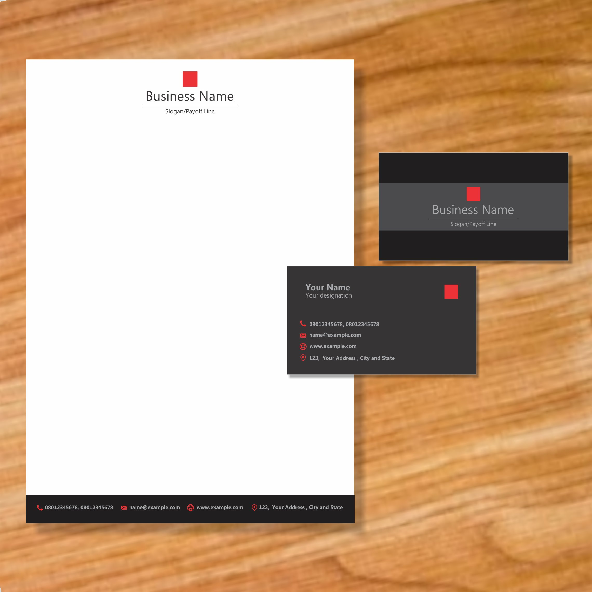 Business card and letterhead | Graphic & Website Design | Paper Craft