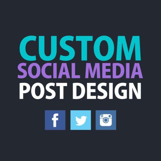 custom social media post design