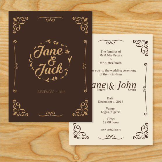 invitation card mock up