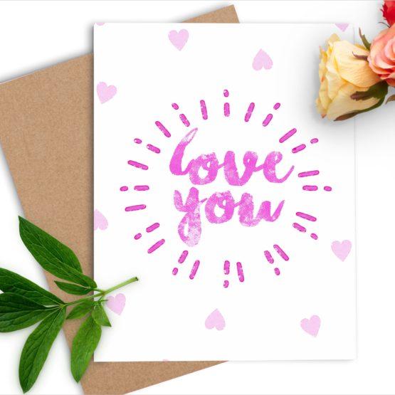 love you ccard