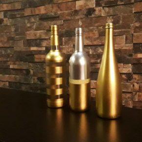 bottle flower vases