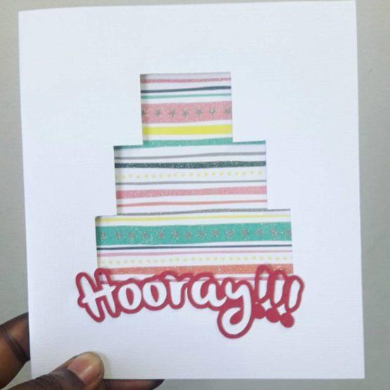 hooray handmade greeting card