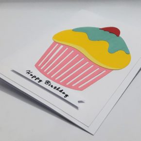 cup cake birthday card