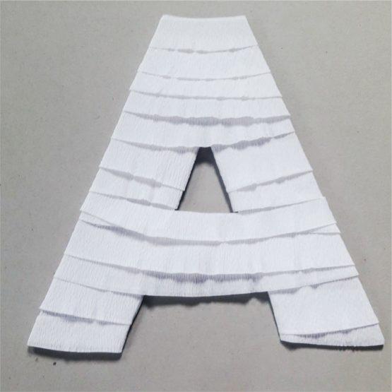crepe paper letters decor 1