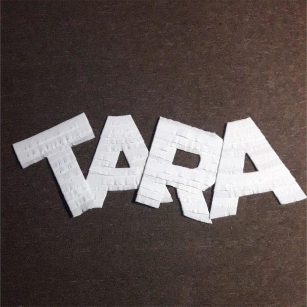 crepe paper letters decor 4