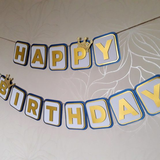 prince themed birthday banner