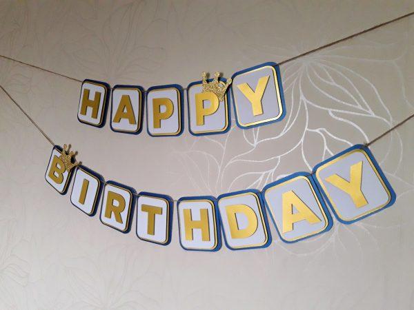 prince themed birthday banner