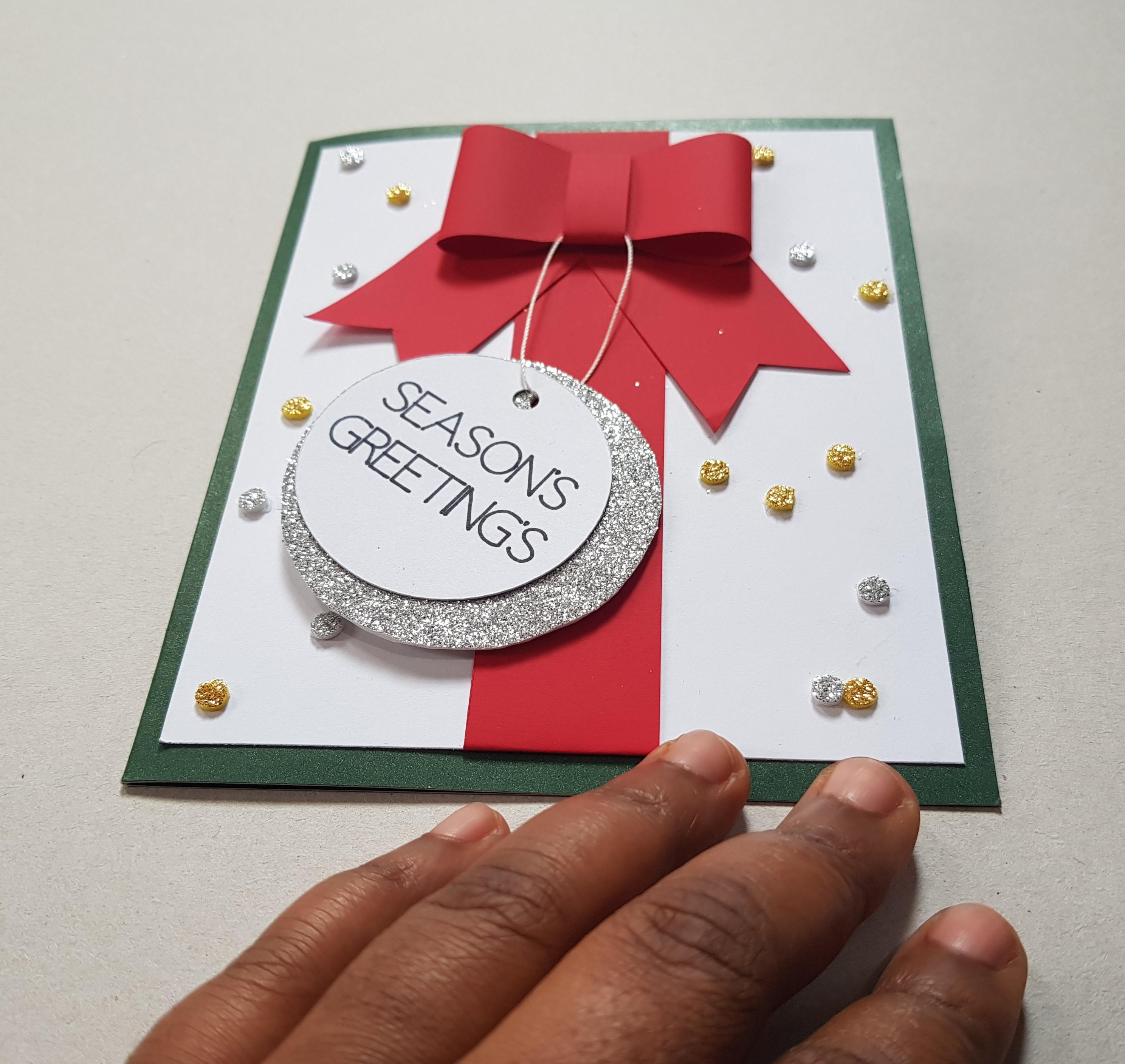 handmade seasons greetings card